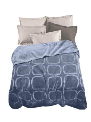 Κουβέρτα βελουτέ ανάγλυφη MARWA