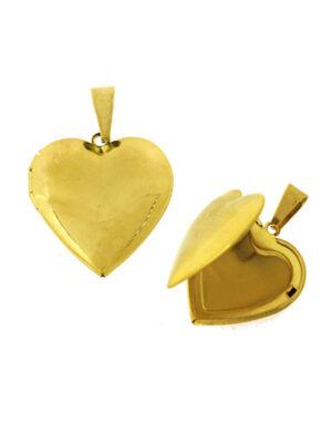 Ατσάλινο Μενταγιόν Καρδιά Ανοιγόμενη