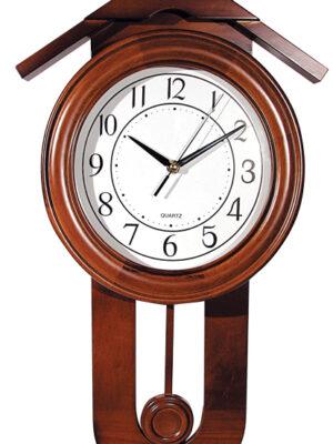 Ρολόι τοίχου - ξυλινο - εκκρεμές